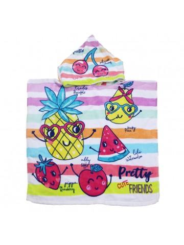 PONCHO-TOALLA PRETTY FRUITS